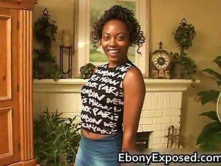 Sexy Ebony Teen Gets A  Part1