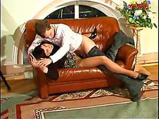Pantyhose Milf In  Fucked By A Teen Cock