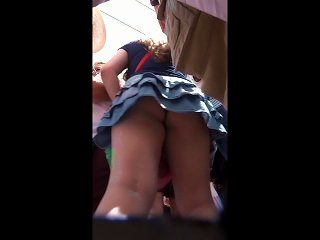 Black Panty Upskirt Teen