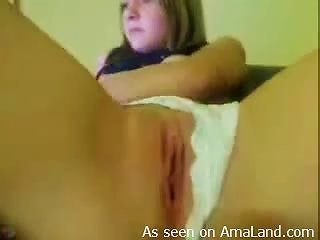 Horny  Plays With Her Completely  Pink Pussy