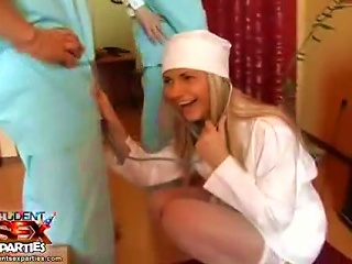 Hot Nurse In White  At A