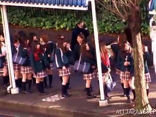 Japanese Teen In Uniform Gets Fucked In A School