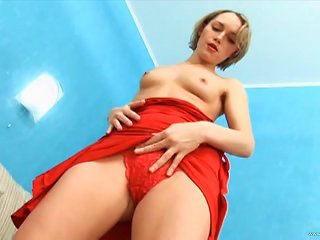 Salacious Blonde Sucks A Dick And Welcomes It In Her Hairy Pussy