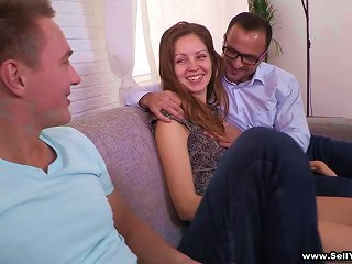 Her Poor Husband Has To Watch This Chick Fuck Another Guy